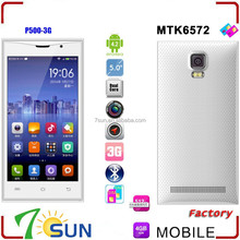 """5"""" Unlocked Android 4.2 Smart Cell Phones Dual Core 3G WCDMA MTK6572 GPS AT&T P500 smartphone wholesale"""