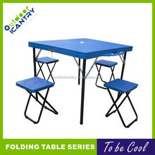 square plastic folding table big size ABS plastic table outdoor plastic portable table
