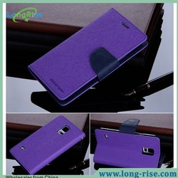 Mercury Goospery Fancy Diary Dual Color Wallet Flip TPU+PU Leather Case for Samsung Galaxy S5