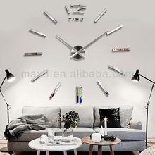 DIY EVA Foam Home Decor Wall Clock Sticker/DIY Acrylic Digital Mirror Wall Sticker Clock