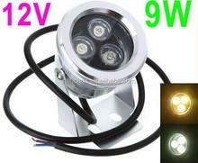 IP68 9W 12V Underwater LED Floodlight Landscape Light Fountain Pond Lamp Bulb White/warm White