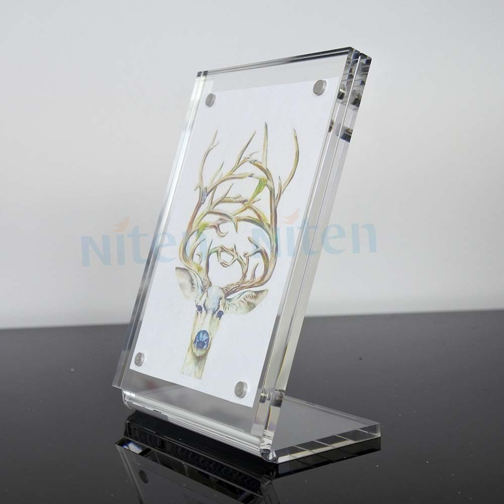 Angled Acrylic Sign Holder 8.5 X 11 Frames,Slant Back Styrene Sign ...