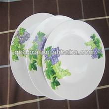pratos de jantar de porcelana prato divisor de comida, pratos compartimento rodada