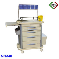 NFM48 hospital movable emergency medical anaesthesia trolley