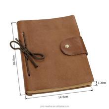 8081B JMD Lichee Pattern Genuine Leather Daily School Notebook