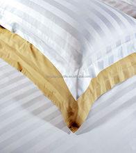 50% polyester 50% cotton satin stripe sheeting fabric