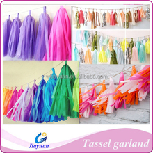 Christmas Tassel Garlands Made of Colorful Tissue Paper