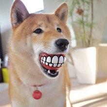 Smile Teeth Squeaky Vinyl Ball For Dog Teeth Dog Toys