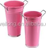 Customzied Eco-friendly metal jar/Garden flower planter/Metal flower pot_Outdoor Decoration