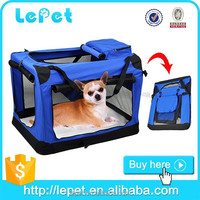 Comfort travel folding pet carrier soft dog travel crate