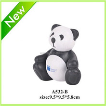 2015 Newest style Panda pu stress ball, Model A532-B, animal shapes stress ball