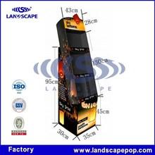 Earth lanterns cardboard display stand/Cardboard floor standing lanterns display rack