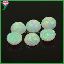 9mm OP17 white flat back cabochon synthetic opal gemstone price