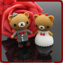 Hot Sale cartoon pen drive wedding favors gift bear usb falsh drive