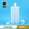 600ml Two Component Disposable Epoxy Resin Cartridge, Adhesive Cartridge