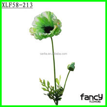 Factory direct sale importers artificial flowers cheap wholesale single stem PU poppy for home decor