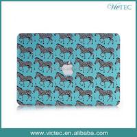 Wholesale Zebra Pattern Rubberized Gel Case For MacBook pro retina 13.3 15.4