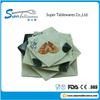 Blue and White Porcelain Square Plastic Melamine Plate for Dinner