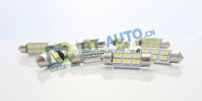 2014 Popular product ! NON-Polarity LED Car Light C5W-6SMD5630 180LM Car Led Tuning Light