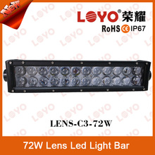 13.5inch 4*4 accessories offroad 72w led light bar with 4D projector lens