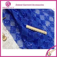 Nuevo modelo del grano vendedor caliente de cable de encaje bordado con las perlas