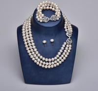 2015 New Fashion Korean simulated pear necklace charming crystal leaf pearl flower vintage Choker necklace/