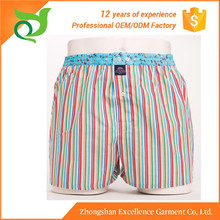 Hot selling Adult Age Group woven men boxer underwear