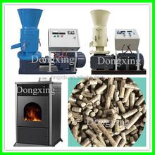 Wood pellet burner used to produce fuel