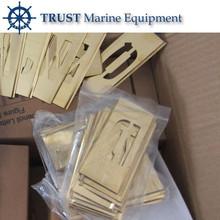 IMPA 613143 Brass Adjustable Letter and figure Stencil Set