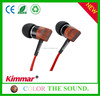 Wholesale Best Quality Real Wood Earphones , Funny Headphones With High Quality