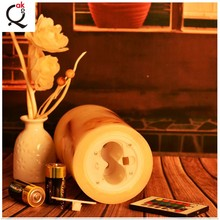 battery operation flameless moving Mirage Flicker Flame LED Candles Christmas electric wax candle/