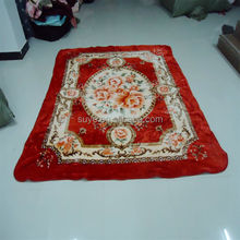 Hot selling muslin swaddle blanket fabric 150*200cm /polyester blanket