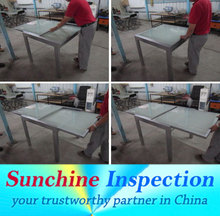 Marble quality control and inspection service about glass table,chair in Guangzhou and yiwu and shijiazhuang