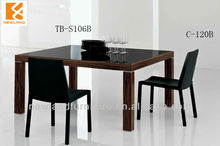 Newland 2013 modern dining table designs in wood (D-S106B)