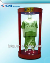 Levitating and rotating shirt display rack