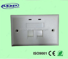 cheap Frame Faceplate 86*86mm UK Euro Single Flat wall outlet Smooth Surface