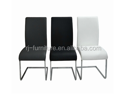 Modern office pu colorful leather metal dining room chair for Colorful leather dining chairs