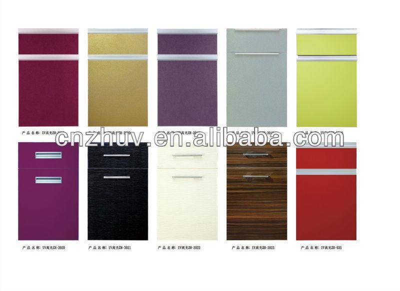 Uv High Gloss Vinyl Wrap Kitchen Cabinet Doors View Vinyl