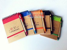 Eco friendly bulk notebooks with pen