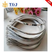 Lastest Design unisex Wire Rhodium hoop alloy metal hair bands
