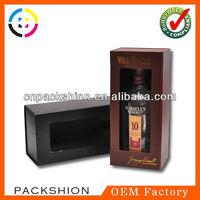2013 Cardboard Leather Wine Box with Foam Insert