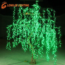 OUTDOOR WATERPROOF led simulation green weeping willow tree lights