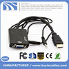 HDMI to SVGA/ VGA with 3.5mm Stereo Jack Audio Adapter Converter Cable