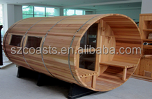 Barrel sauna fully equipped,Outoor sauna room with window