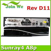 Digital Satellite Tv Receiver sunray sr4 800hd se triple tuner wifi sim a8p card clone box with original software
