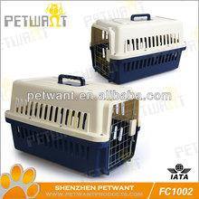 Plastic dog flight shipping crates