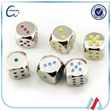 wholesale metal colored dice