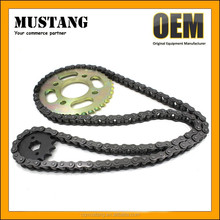 Motorcycle chain and sprocket kit for Honda CG125