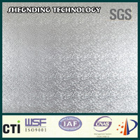 Clear tape! High peel adhesion High strength glue Embossed Aluminum Foil Cladding