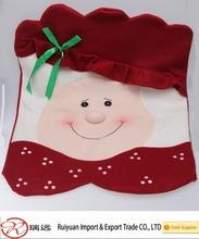 Alibaba Wholesale Handmade Soft Santa Chair Back Cover for Christmas holiday
